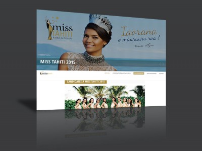 Site internet - Miss Tahiti