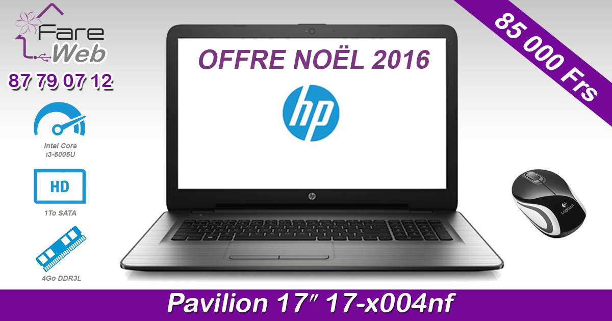 "HP Notebook Pavilion 17"" 17-x004nf"