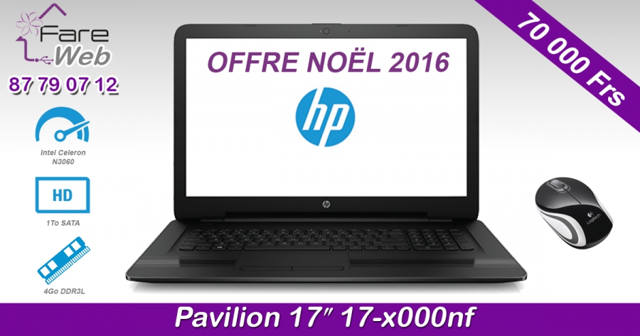 "HP Notebook Pavilion 17"" 17-x000nf"